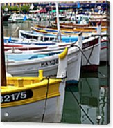 Cassis Boats Acrylic Print by Brian Jannsen