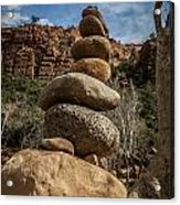 Castle Rock Cairn Acrylic Print by Darcy Michaelchuk