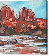 Cathedral Rock 2 Acrylic Print by Sandy Tracey