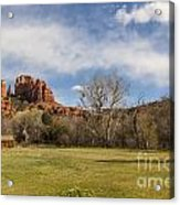 Cathedral Rock From The Park Acrylic Print by Darcy Michaelchuk
