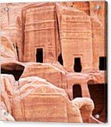 Cave Dwellings Petra. Acrylic Print by Jane Rix