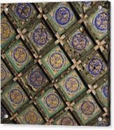 Ceiling Tiles In The Forbidden City Acrylic Print by Sam Bloomberg-rissman