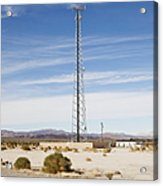 Cellular Phone Tower In Desert Acrylic Print by Paul Edmondson