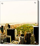 Central Park And The New York City Skyline From Above Acrylic Print by Vivienne Gucwa