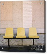 Chairs Acrylic Print by Bernard Jaubert