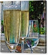 Champagne At The Beach Acrylic Print by Joan  Minchak