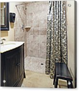 Changing Room And Shower Acrylic Print by Skip Nall