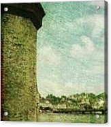 Chapel Bridge Tower In Lucerne Switzerland Acrylic Print by Susanne Van Hulst