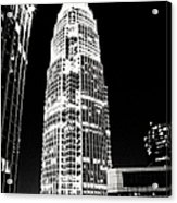 Charlotte North Carolina Bank Of America Building Acrylic Print by Kim Fearheiley