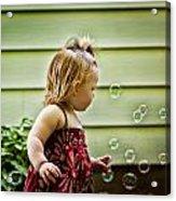 Chasing Bubbles Acrylic Print by Matt Dobson