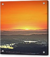 Chattanooga Sunrise Acrylic Print by Steven Llorca