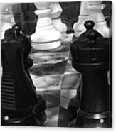 Checkmate Acrylic Print by Jennifer Sabir