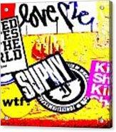 Chelsea Desperate Plea Acrylic Print by Funkpix Photo Hunter
