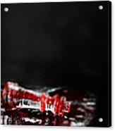 Chess Piece Lying In Blood Acrylic Print by Stephanie Frey