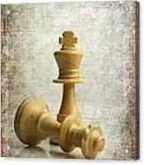 Chess Pieces Acrylic Print by Bernard Jaubert