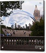 Chicago Cloud Gate Bean Sculpture Acrylic Print by Paul Velgos