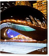 Chicago Cloud Gate Luminous Field Acrylic Print by Paul Velgos