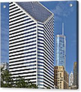 Chicago Crain Communications Building - Former Smurfit-stone Acrylic Print by Christine Till