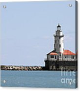 Chicago Harbor Light Acrylic Print by Christine Till