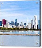 Chicago Panarama Skyline Acrylic Print by Paul Velgos