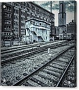Chicago Rail Station Acrylic Print by Donald Schwartz