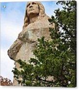 Chief Blackhawk Statue Acrylic Print by Bruce Bley