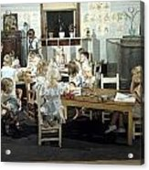 Children Play In A Day Nursery Acrylic Print by J. Baylor Roberts