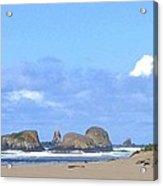Chimneys Of Cannon Beach Acrylic Print by Will Borden