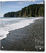 China Wave China Beach Juan De Fuca Provincial Park Vancouver Island Bc Acrylic Print by Andy Smy