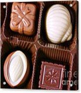 Chocolates Closeup Acrylic Print by Carlos Caetano