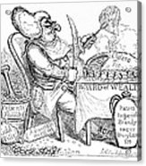 Cholera Doctor, Satirical Artwork Acrylic Print by