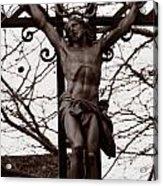 Christ Among The Ruins Acrylic Print by Pam Blackstone