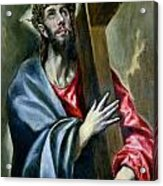 Christ Clasping The Cross Acrylic Print by El Greco