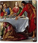 Christ In The House Of Simon The Pharisee Acrylic Print by Claude Vignon
