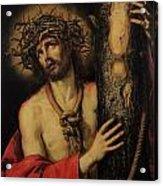 Christ Man Of Sorrows Acrylic Print by Antonio Pereda y Salgado