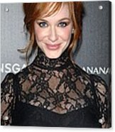 Christina Hendricks Wearing A Dolce & Acrylic Print by Everett