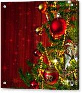 Christmas Tree Detail Acrylic Print by Carlos Caetano