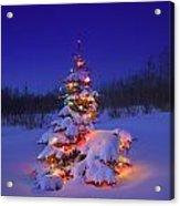Christmas Tree Glowing Acrylic Print by Carson Ganci