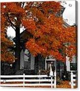 Church In Autumn Acrylic Print by Andrea Kollo