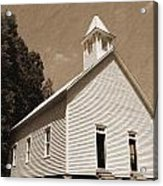 Church In The Mountains Acrylic Print by Barry Jones
