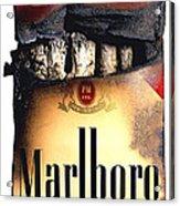 Cigarette Skeleton Acrylic Print by Michael Kraus