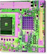 Circuit Board Acrylic Print by Victor De Schwanberg