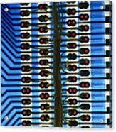 Circuit Used In Testing Microchip Functions Acrylic Print by Chris Knapton