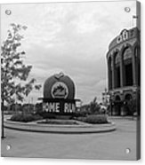 Citi Field In Black And White Acrylic Print by Rob Hans