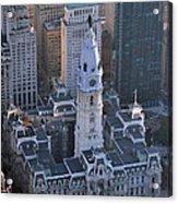 City Hall Broad St And Market St Philadelphia Pennsylvania 19107 Acrylic Print by Duncan Pearson