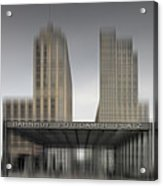 City-shapes Berlin Potsdamer Platz Acrylic Print by Melanie Viola