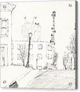 City Street - Sketch Acrylic Print by Robert Meszaros