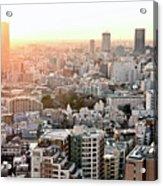Cityscape Of Tokyo Acrylic Print by Keiko Iwabuchi