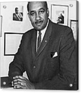 Clarence Mitchell, Jr., Head Acrylic Print by Everett