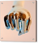Clenched Fist, Computer Artwork Acrylic Print by Christian Darkin